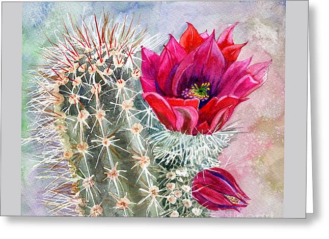 Hedgehog Cactus Greeting Card