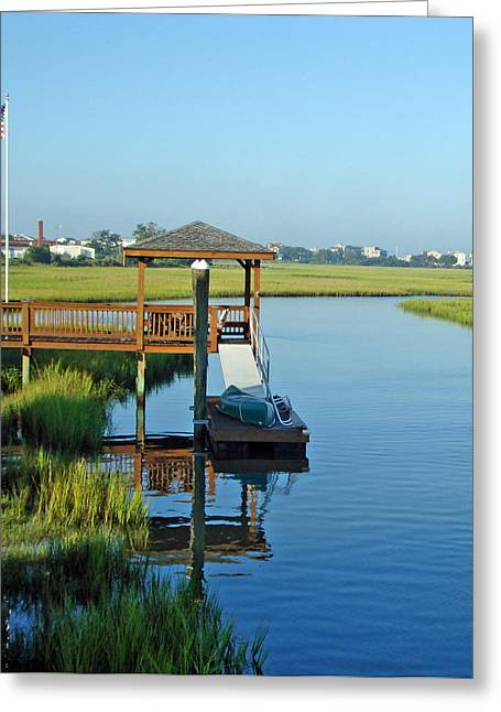 Greeting Card featuring the photograph High Tide West Salisbury St Bridge by Phil Mancuso
