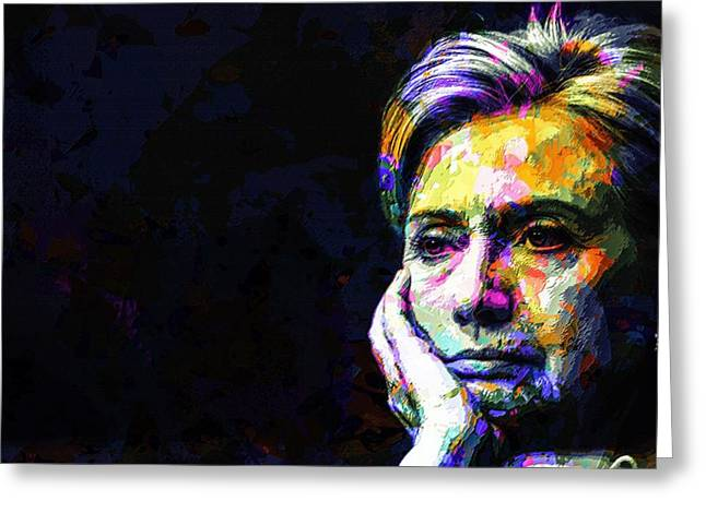 Hillary Clinton Greeting Card by Svelby Art