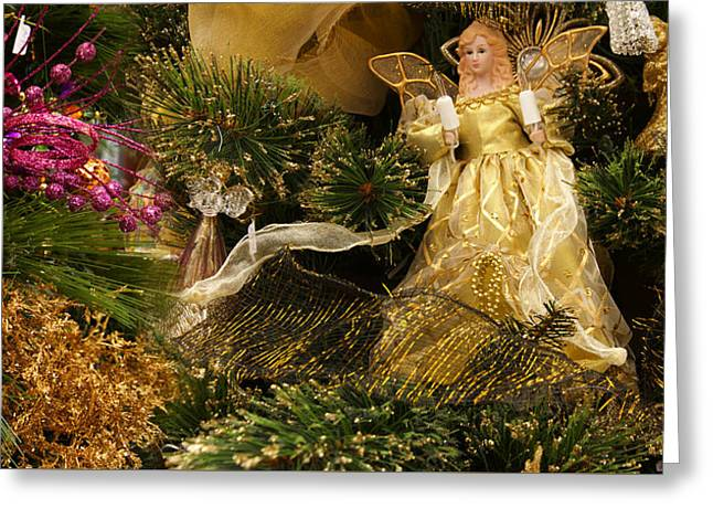 Holiday Christmas Tree Scene Greeting Card by Panoramic Images