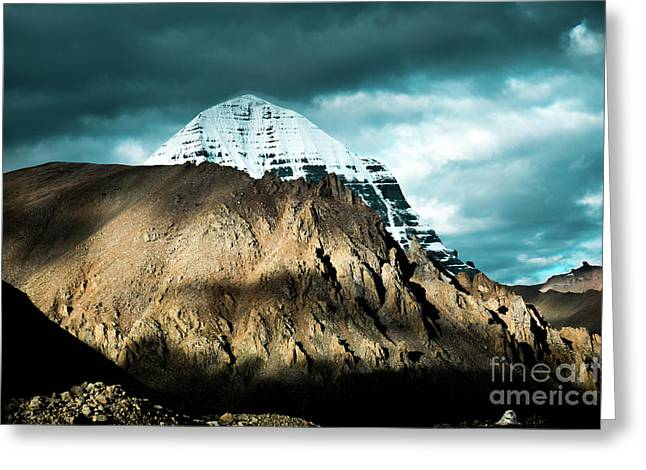 Holy Kailas East Slop Himalayas Tibet Yantra.lv Greeting Card