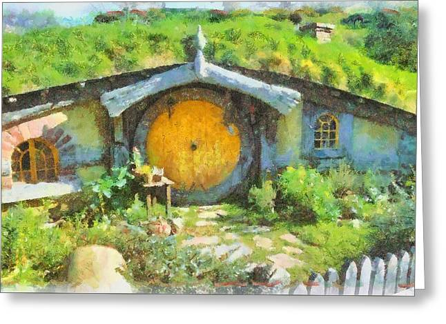 Homes Of The Shire Folk Greeting Card by Sarah Kirk