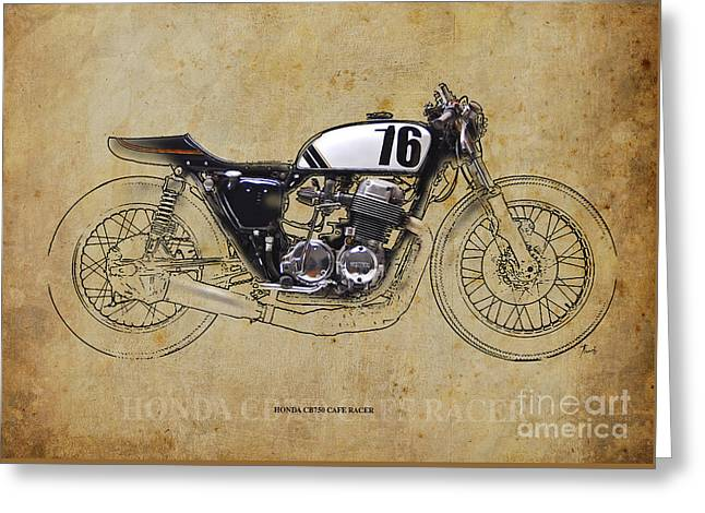 Honda Cb750 Cafe Racer Greeting Card