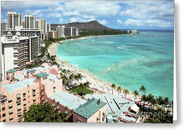 Honolulu Hawaii Greeting Card by Bill Cobb