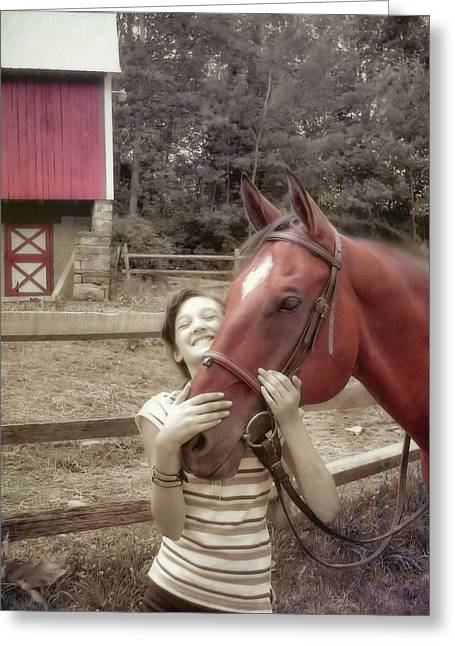 Horse Crazy Greeting Card by JAMART Photography