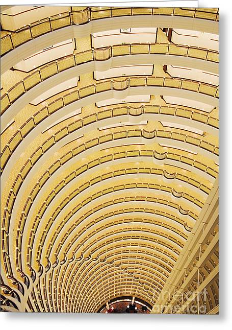 Hotel Atrium In The Jin Mao Tower Greeting Card by Jeremy Woodhouse
