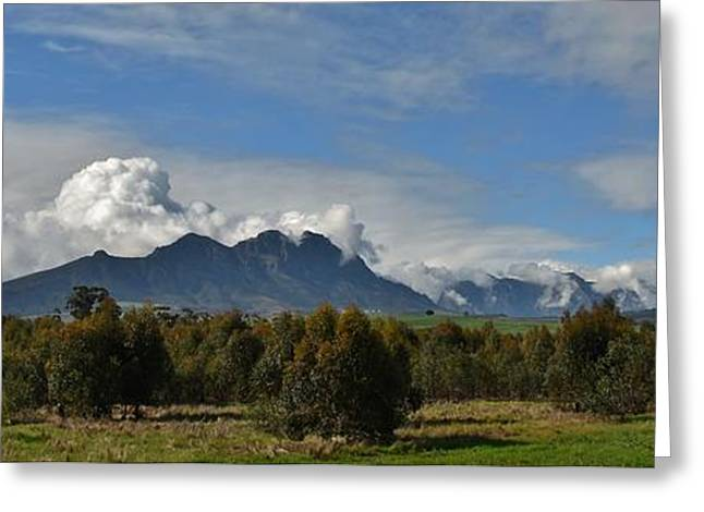 Hottentots Holland Mountains Greeting Card
