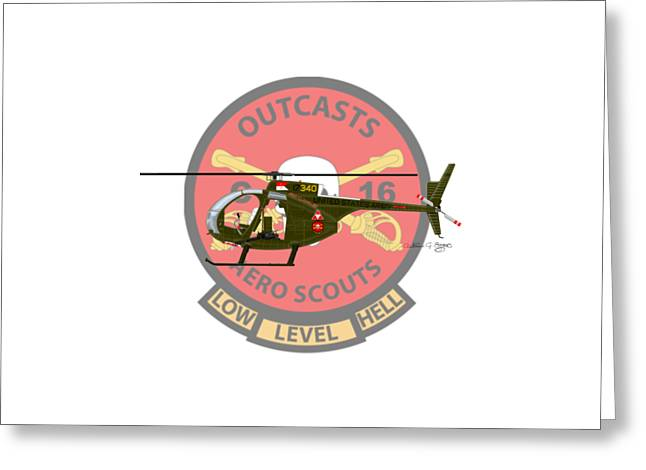 Hughes Oh-6a Cayuse Miss Clawd Iv Greeting Card