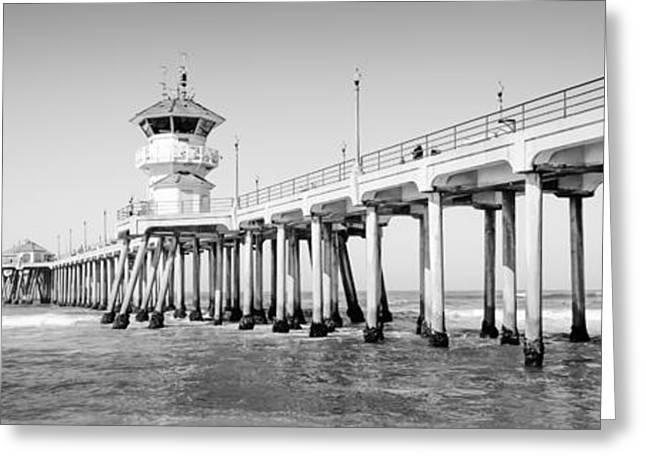 Huntington Beach Pier Panorama Photo Greeting Card