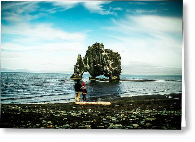 Hvitserkur Iceland Greeting Card by Mirra Photography