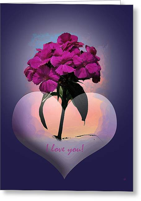 Greeting Card featuring the photograph I Love You by Gerlinde Keating - Galleria GK Keating Associates Inc