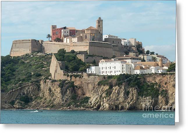 Ibiza Town And Castle Greeting Card