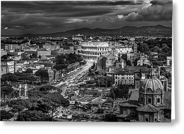 Il Colosseo Greeting Card by Sonny Marcyan