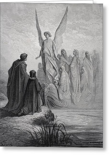 Illustration For Purgatorio By Dante Greeting Card