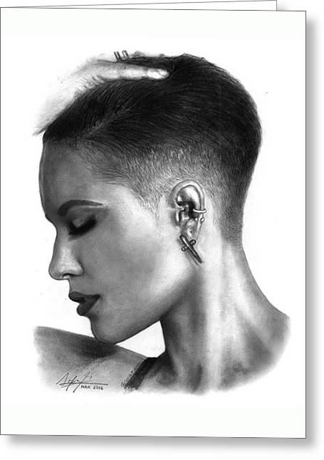 Halsey Drawing By Sofia Furniel Greeting Card