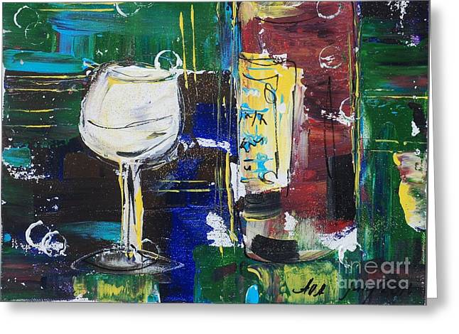 In Vino Veritas. Wine Collection 12 Greeting Card