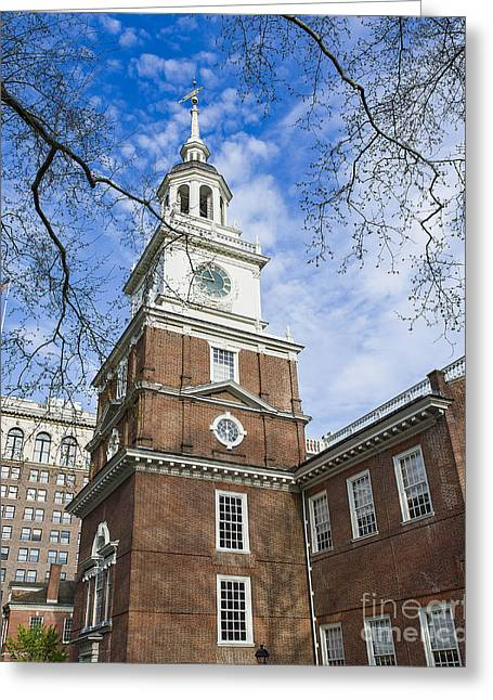 Independence Hall Greeting Card by John Greim