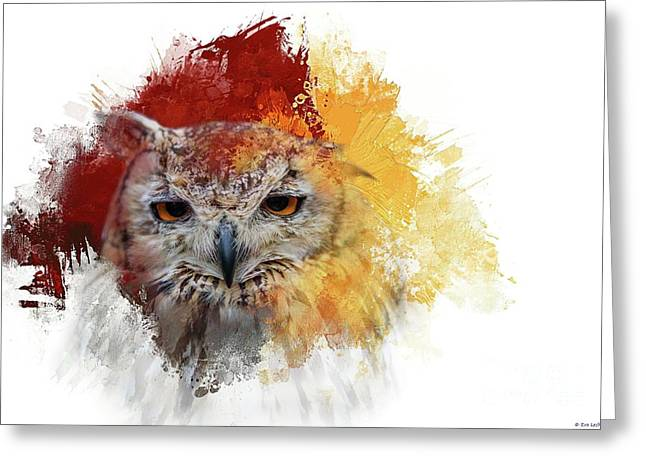 Indian Eagle-owl Greeting Card