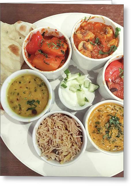 Indian Food Selection Greeting Card