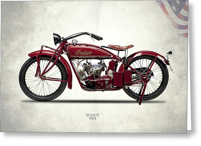 Indian Scout 1924 Greeting Card by Mark Rogan