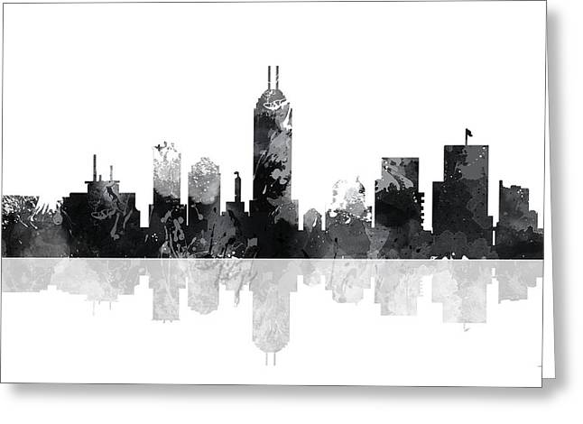 Indiana Indianapolis Skyline Greeting Card