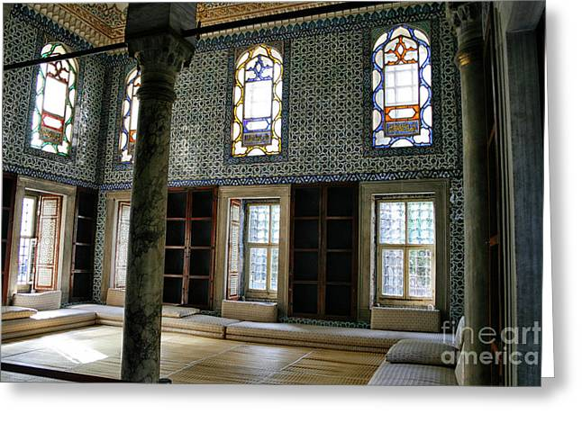 Greeting Card featuring the photograph Inside The Harem Of The Topkapi Palace by Patricia Hofmeester