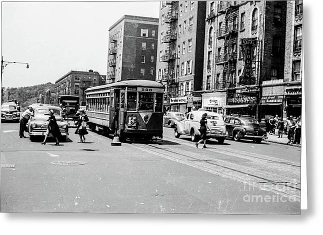 Greeting Card featuring the photograph Inwood Trolley  by Cole Thompson