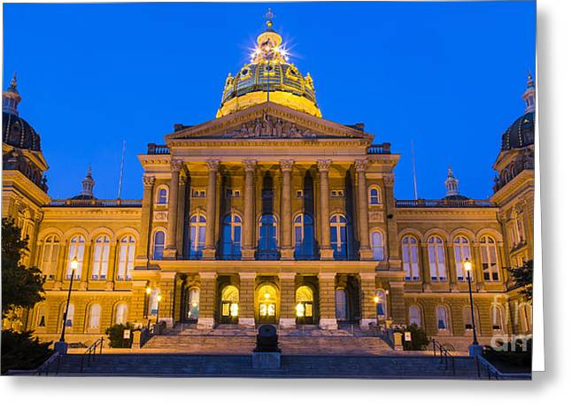 Iowa State Capitol Building Greeting Card by Twenty Two North Photography