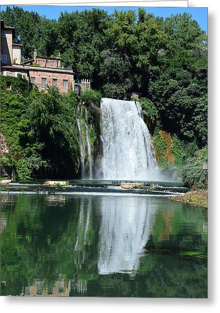 Greeting Card featuring the photograph Isola Del Liri Falls by Dany Lison
