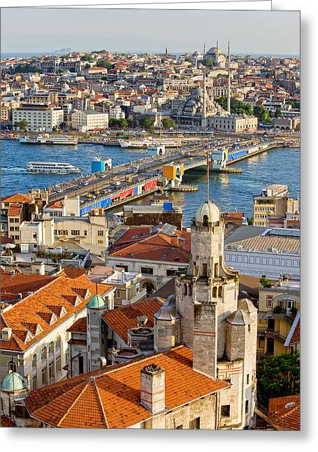 Istanbul Cityscape Greeting Card by Artur Bogacki
