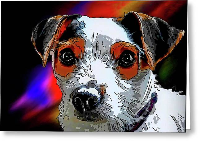 Jack Russell Terrier Greeting Card by Alexey Bazhan