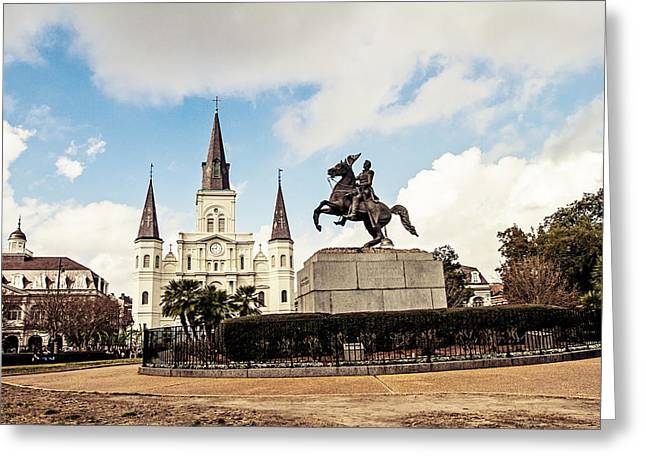 Jackson Square Greeting Card by Scott Pellegrin
