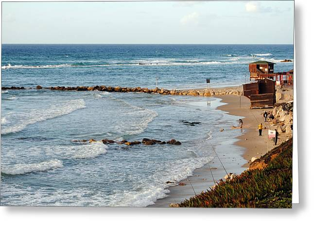 Jaffa Beach 7 Greeting Card