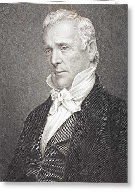 James Buchanan 1791 To 1868. 15th Greeting Card by Vintage Design Pics