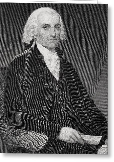 James Madison 1751-1836. Fourth Greeting Card by Vintage Design Pics
