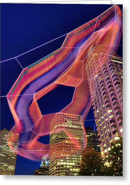 Janet Echelman Sculpture - Boston Greeting Card by Joann Vitali