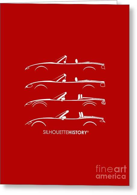 Japanese Roadster Silhouettehistory Greeting Card by Gabor Vida