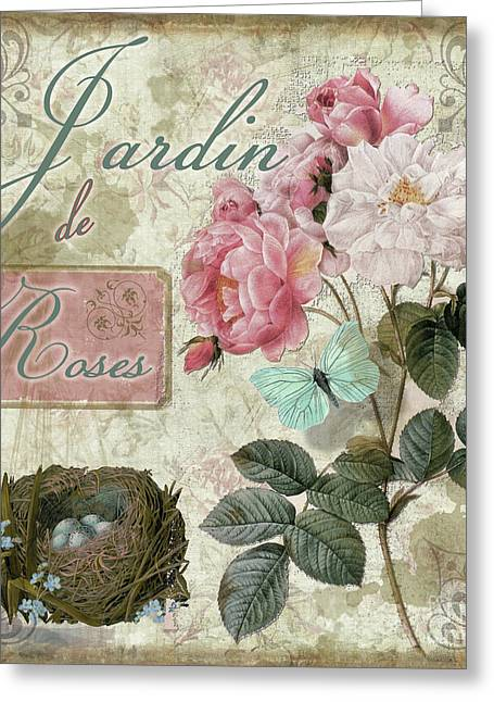 Jardin De Roses Greeting Card by Mindy Sommers