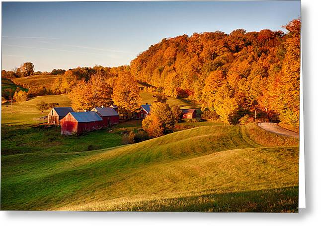 Jenne Farm Greeting Card by Jeff Folger