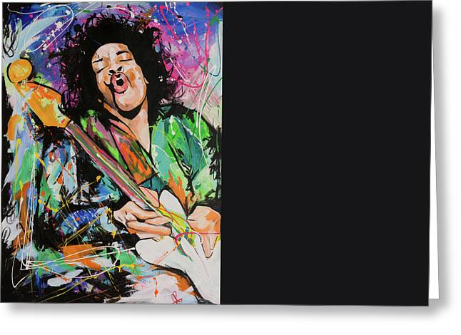 Jimi Hendrix Greeting Card by Richard Day