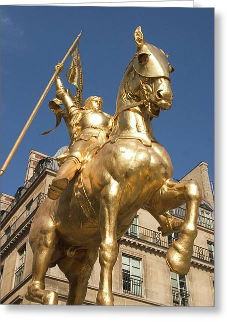 Joan Of Arc Greeting Card by Carl Purcell