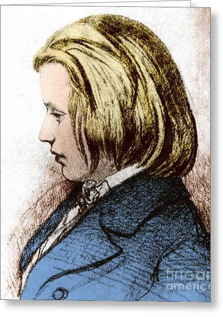 Johannes Brahms, German Composer Greeting Card by Science Source