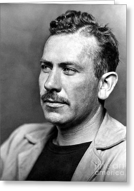 Nobel Prize Laureate Greeting Cards - John Steinbeck (1902-1968) Greeting Card by Granger