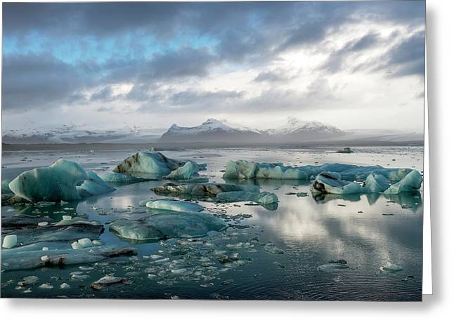 Greeting Card featuring the photograph Jokulsarlon, The Glacier Lagoon, Iceland 3 by Dubi Roman