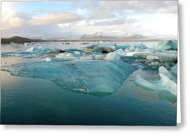 Greeting Card featuring the photograph Jokulsarlon The Glacier Lagoon, Iceland 2 by Dubi Roman
