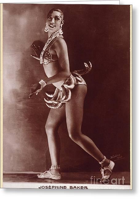 Josephine Baker (1906-1975) Greeting Card by Granger