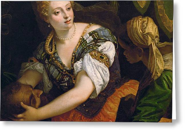 Judith With The Head Of Holofernes Greeting Card