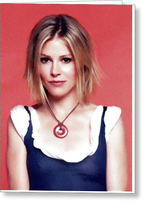 Julie Bowen Poster Greeting Card by Best Actors