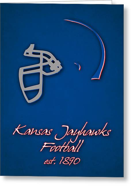 Kansas Jayhawks Greeting Card by Joe Hamilton