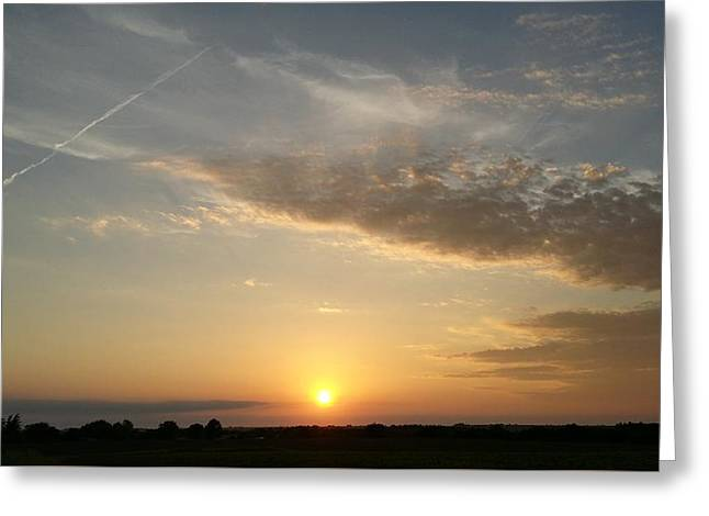 Kansas Sunset Greeting Card by Dustin Soph